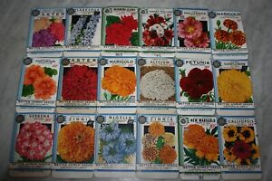 New-Find-18-Vintage-1934-034-Better-Homes-034-Flower-Seed-Packets-Crosman-Seed-Co