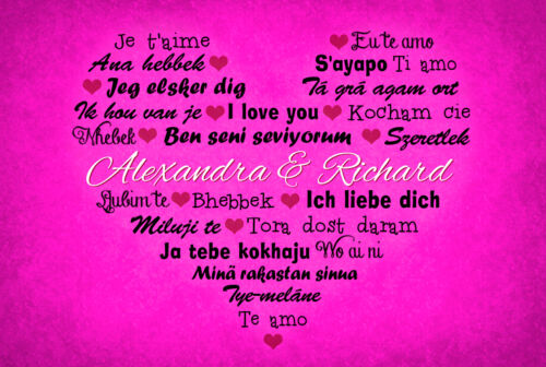Fußmatte I Love you*Geschenk*Hochzeit*Romantisch*Valentinstag*Türvorleger*Herz