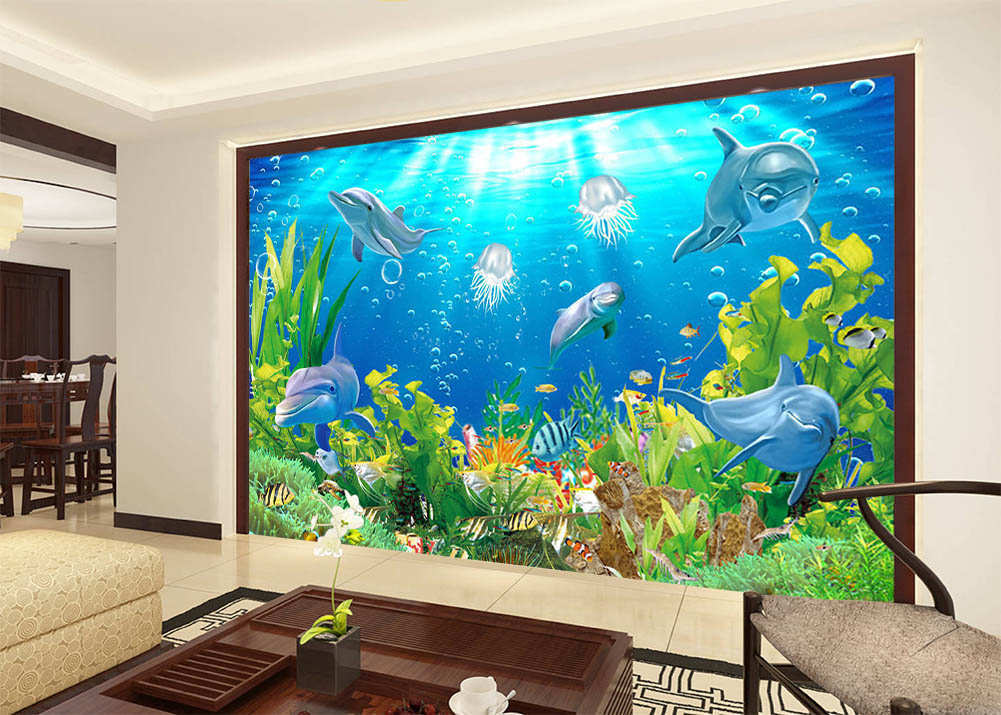 Master Of Sea Animal 3D Full Wall Mural Photo Wallpaper Wallpaper Wallpaper Printing Home Kids Decor ba5c4e