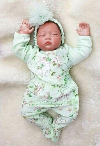 Mädchen Baby Overall mit Haarband aus Velours Einteiler Strampler Neugeborenen