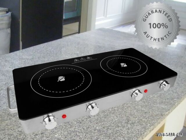 Electric Double Burner Ceramic Portable
