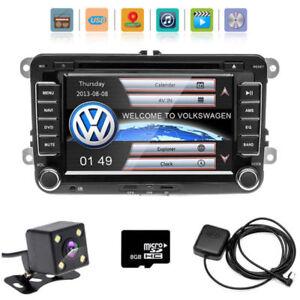 7-034-Autoradio-2DIN-Bluetooth-GPS-Sat-Navi-DVD-Fuer-VW-PASSAT-GOLFPOLO-Caddy-Kamera