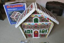 """SYLVANIA YULESCAPES 36"""" GINGERBREAD HOUSE CHRISTMAS LIGHTED INDOOR/OUTDOOR/YARD"""