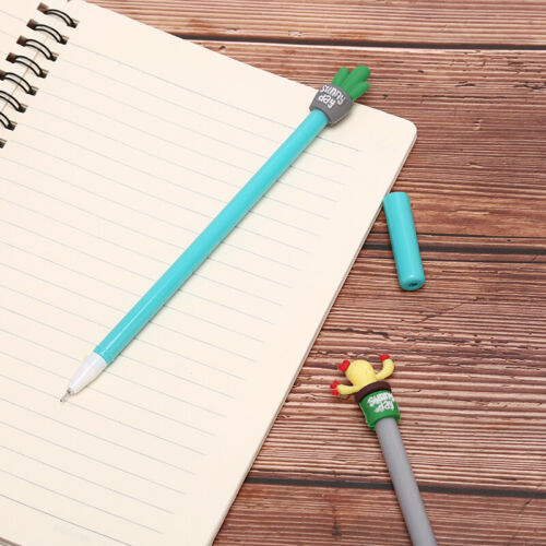 Cute Cactus Design Black Gel Pen Ballpoint Writing Office School Supply ZH