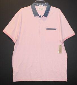 Penguin-by-Munsingwear-Mens-Pink-Heritage-Slim-Polo-Shirt-NWT-69-Size-2XL-XXL