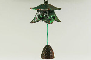 Japan-Iron-Wind-Chime-Bell-Pine-Cone-Free-Shipping-701k17
