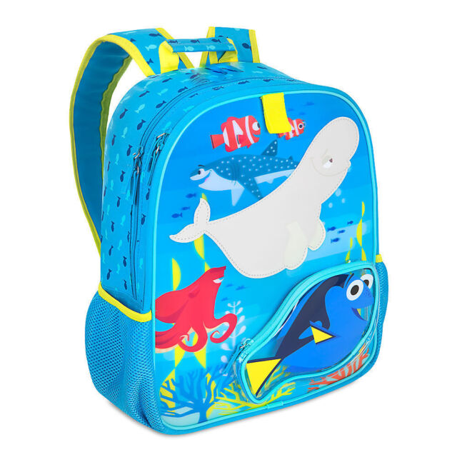 8de422ae235 Disney Store Finding Dory Kids Backpack School Bag with Nemo Marlin Hank  Destiny