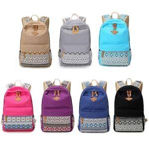 Women-Canvas-Backpack-Girl-Rucksack-Satchel-Shoulder-School-Book-Bags-Travel-Bag