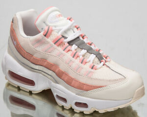 Details about Nike Air Max 95 Womens Sail Coral Casual Lifestyle Sneakers Shoes 307960 116