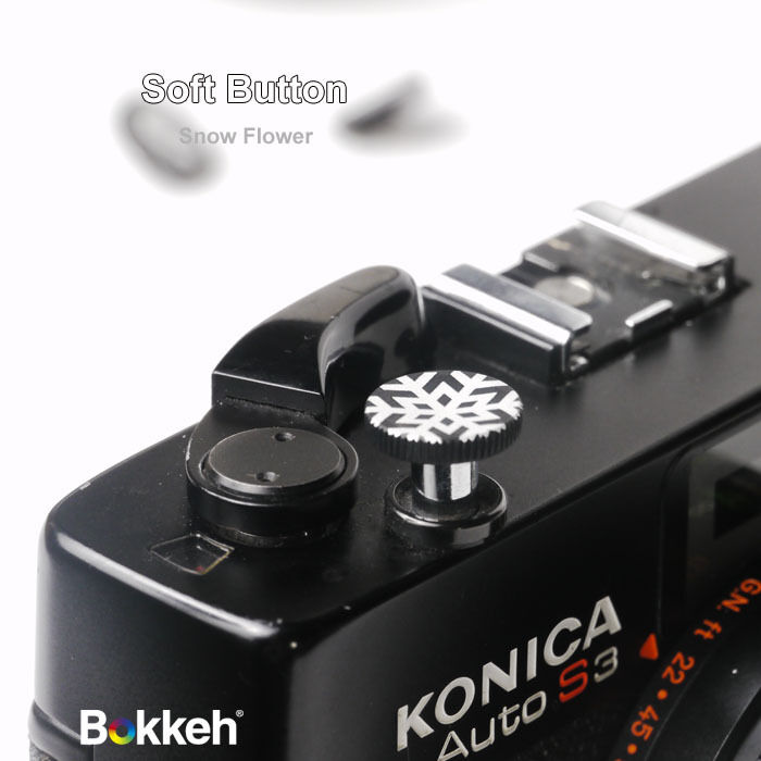 [Snow Black] Bokkeh Small Shutter Soft Release Button Metal Leica M6 M8 Fujifim