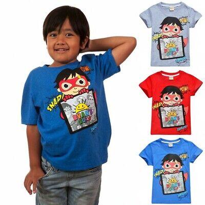 Ryan/'s World T-Shirt Ryan Toys Review Boys /& Girls T-Shirts