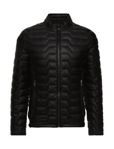 huge selection of 74eee 53a71 Dettagli su GIACCA ECOPELLE GUESS BOMBER IMBOTTITO ECO-LEATHER STRETCH -  NERO - M84L36