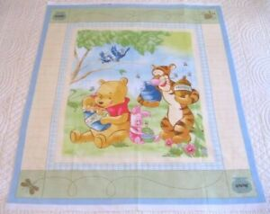 Winnie-the-Pooh-and-Friends-Cot-Quilting-Panel-New