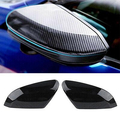 Carbon Fiber Car Rearview Side Mirror Cover Caps For Honda Civic 2016 2017 18-19