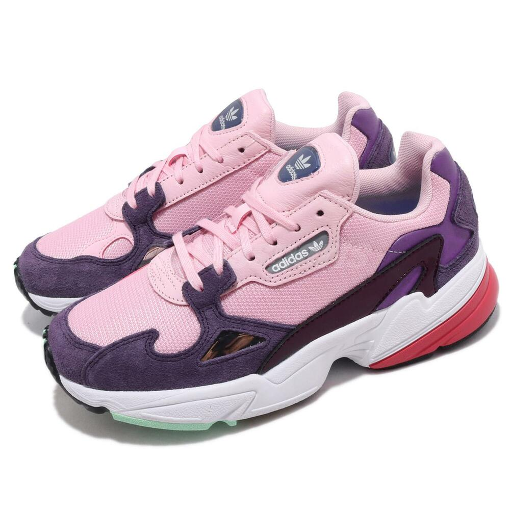 Adidas Originals Falcon W Pink Purple White Red Women Lifestyle Shoes Bd7825 Saveur Aromatique