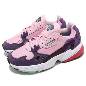 separation shoes 9cb09 ac033 Image is loading adidas-Originals-Falcon-W-Pink-Purple-White-Red-