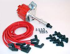 Pontiac 326, 350, 389, 400, 428, 455  HEI Distributor & Red Spark Plug Wire Set