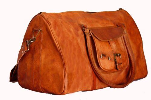 New Large Genuine Leather Duffle//Gym//Travel Bags Luggage Handbag Shoulder bags