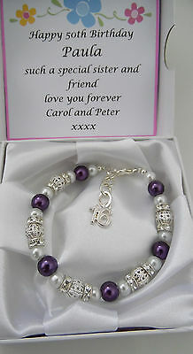18th 16th 21st 30th 40th 50th birthday Gift bracelet ladies present