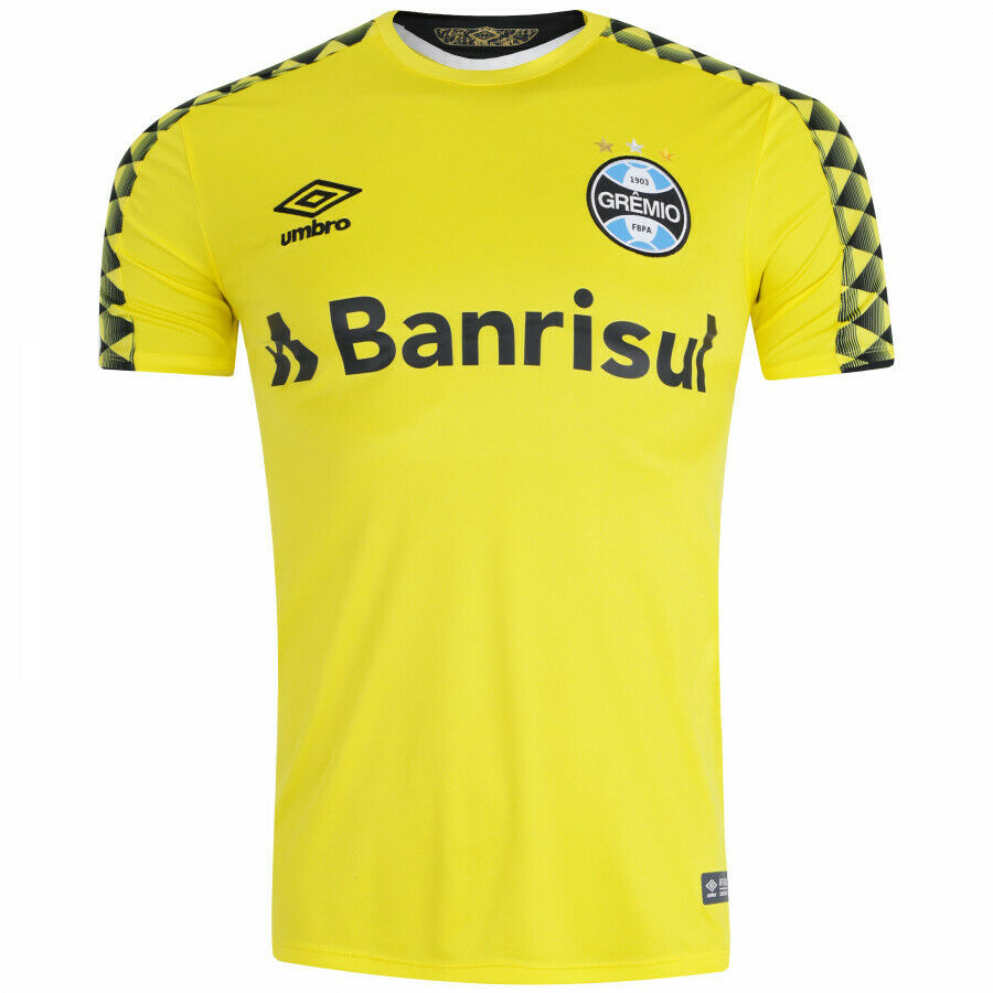 Camiseta de arquero de fútbol Maglia Gremio Camisa 2019 2020 Umbro Brasil