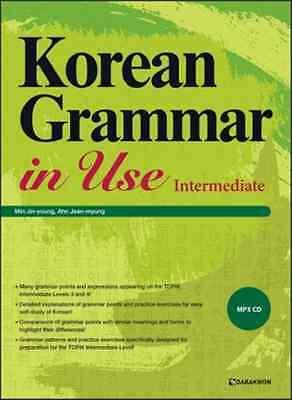 Korean Grammar in Use Intermediate with MP3 CD Korean Grammar 2017
