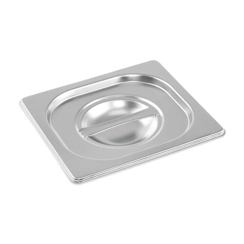 STAINLESS STEEL CONTAINER LID GASTRONORM 1//6 SIZE BAIN MARIE FOOD PAN POT TRAY