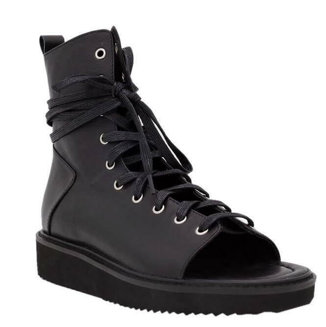 Hot Men Real Leather Platform Lace up Beach Chukka Gladiator Sandals shoes Yoooc