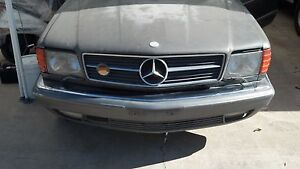 Details about MERCEDES W126 126 500 SEC 500SEC EURO HOOD AND GRILLE