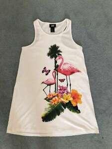 Offen T-shirt Kleid Flamingo Gr.122-128 *neu*