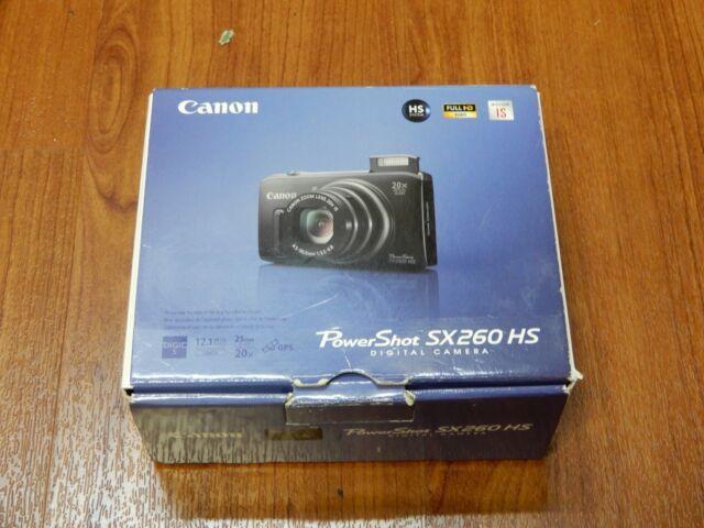 NEW in Open Box - Canon PowerShot SX260 HS 12.1 MP Camera - BLACK - 013803146448