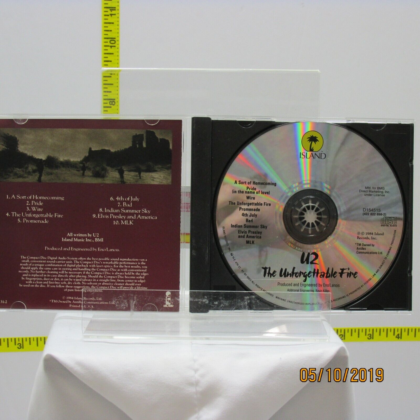 U2 Unforgettable Fire The CD