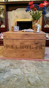 Image Is Loading Wooden Chest Trunk Blanket Box Coffee Table Vintage