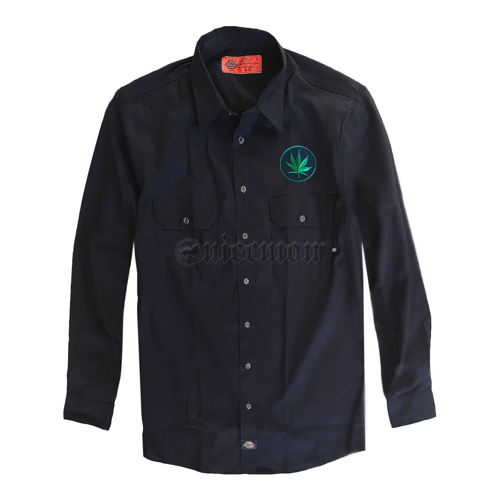 Cannabis Leaf Patch shirt Rasta Jamaica Hawaii Africa LT (Large Tall) FIT shirt