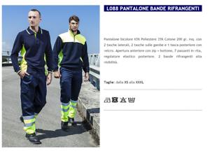 HIGH PANTS VISIBILITY' MAN AID ROAD GARBAGE MAN L088 GP ITALIA