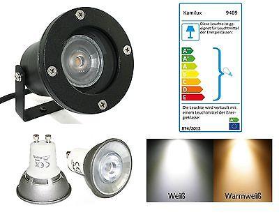 7W Power LED Bodenstrahler Piso IP68 wasserfest Gartenspot Erdspieß 230V