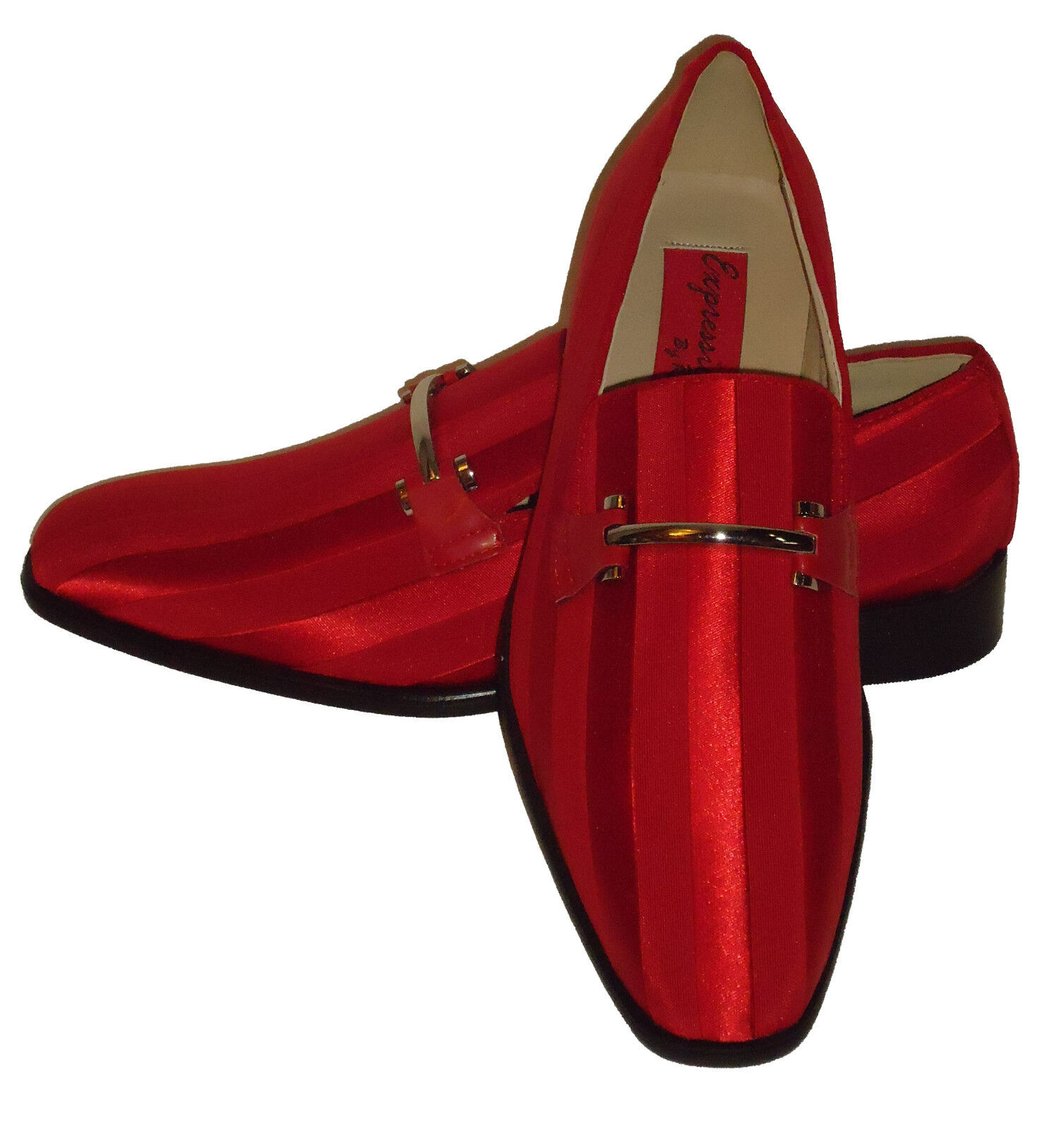 Expressions 6757 Mens rot Fancy Silber Buckle Dress Loafers Tuxedo Style schuhe