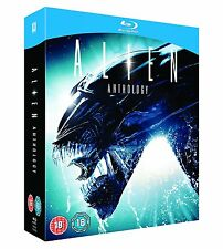Alien Anthology Movies 1 2 3 4 [Blu-ray Set, Resurrection, Region Free, 4-Disc]