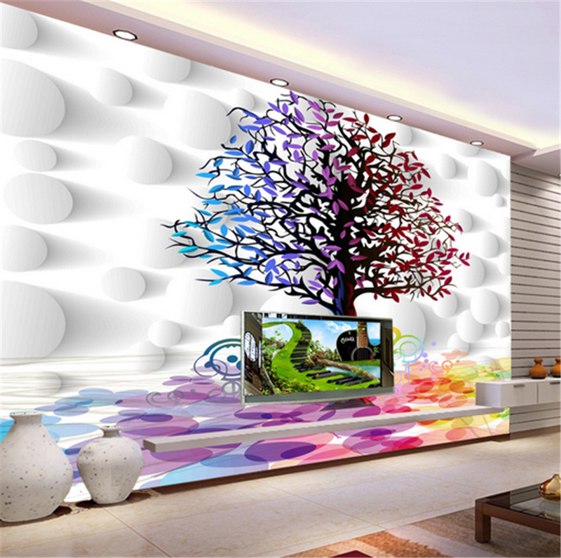 3D Artistic Farbe Tree 773 Wallpaper Mural Paper Wall Print Wallpaper Murals UK