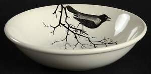 Victorian-Eng-Potter-CROW-Soup-Cereal-Bowl-10504110