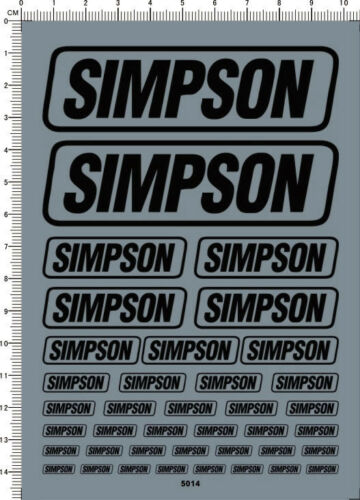 5014 black Decals Simpson for different scales