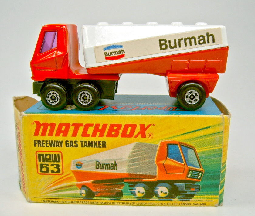 Matchbox No.63B Freeway Gas Tanker  Burmah  rare label variation
