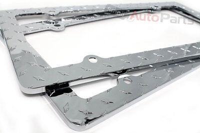 2 Chrome Diamond Bling Custom Metal License Plate Frames for Auto-Car-Truck-SUV