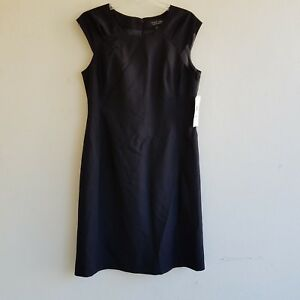 23c3d66ee03 Black Label by Evan Picone Dress Size 10 Black Sleeveless Back ...