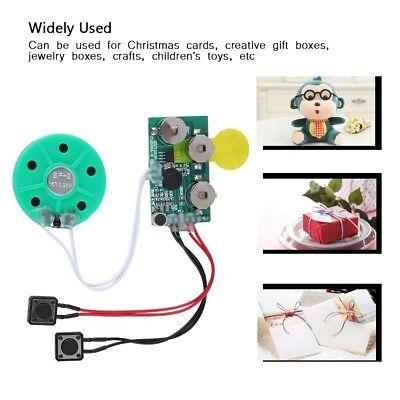 Kreative Geschenkidee PlayMegram besprechbare Audio-Weihnachtskarte 1 Minute Aufnahme und Wiedergabe per Knopfdruck F/ür Sprachnachrichten und Musik