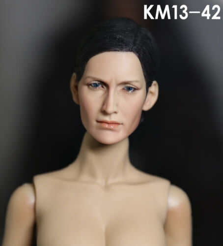 KUMIK 13-42 Carrie-Anne Moss 1//6 Head Sculpt for Custom Female Body #US SELLER#