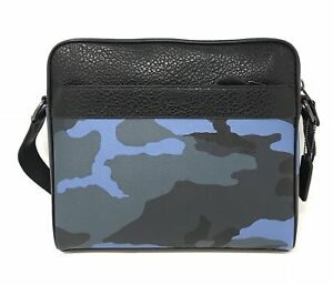 Coach Men's Charles Camo Blue Dusk Multi Camera Crossbody Bag F29052 $350