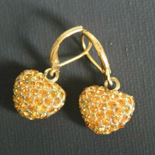 GORGEOUS Vintage Joan Rivers Yellow Rhinestone Dan