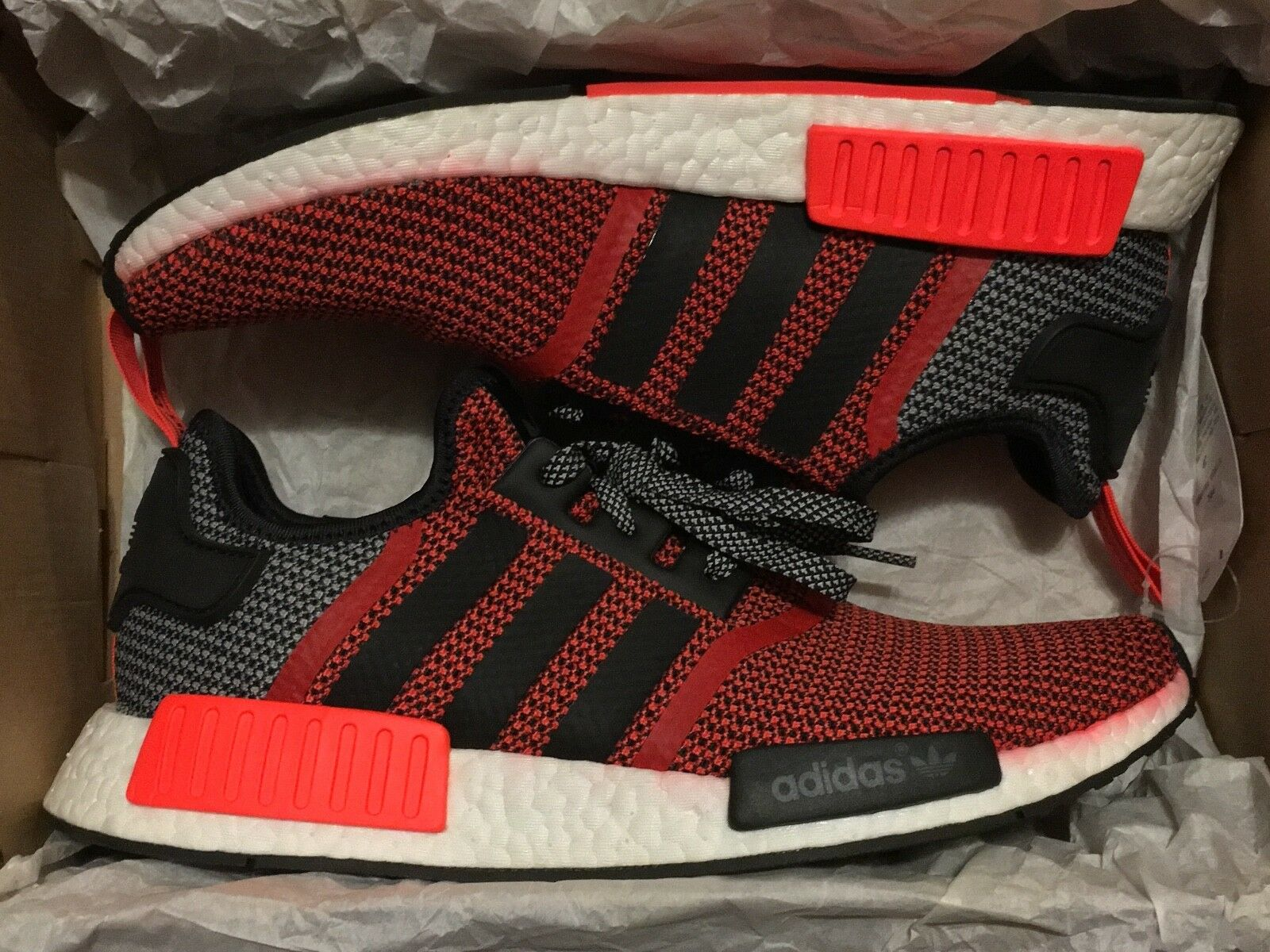 ADIDAS ORIGINALS NMD R1 CIRCA KNIT KNIT KNIT LUSH RED S79158 SIZE 10 3706cb