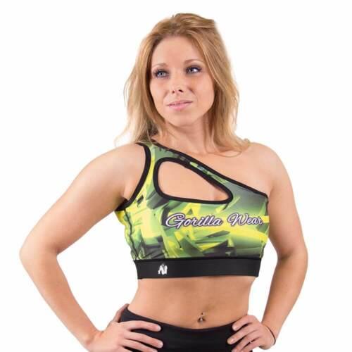 Yellow fitness musculación Gorilla Wear Women/'s reno Sports bra