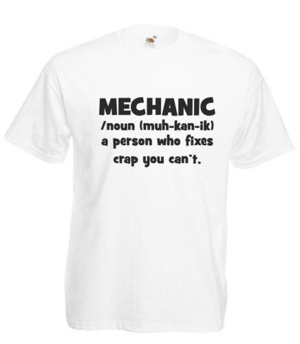 Definición Divertido Novedad Mecánico Camiseta Para Hombres Damas cumpleaños regalo de Navidad Eslogan